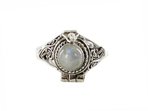"""Moonstone"" Cremation Sterling Silver Urn by Weathered Raindrop"