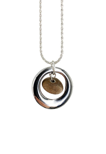 Stone URN Sterling Necklace Urn for Ashes CREMATION Pendants by Weathered Raindrop
