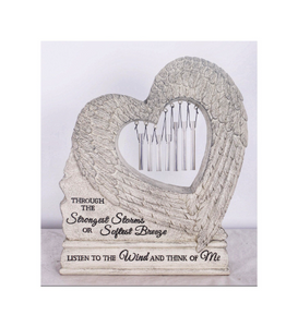 """Angelic Heart Statue"" by Weathered Raindrop"