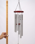 Memorial Wind Chime Strongest of Storms 26 inch Grieving Gift Custom Gift After Loss Of Mom Dad or Loved One In Memory Silver