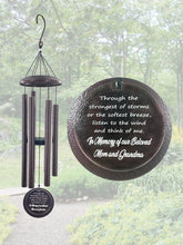 BEST SELLER 34 inch Extra Large Deep Tone Memorial Sympathy Gift Custom Wind Chime After Loss Listen by Weathered Raindrop
