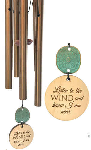 """Always Near"" Copper 28 inch Memorial Wind Chime by Weathered Raindrop"