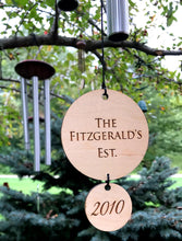 Wedding Anniversary Wind Chime Custom Established Windchime gift for bride groom rustic top wedding gifts