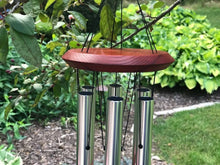 Memorial Wind Chime 26 inch Grieving Gift Custom Gift After Loss Of Mom Dad or Loved One In Memory Silver