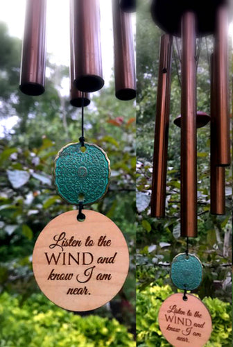 Memorial Wind Chime Deep Tone 28 inch Sympathy Gift by Weathered Raindrop