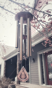 Memorial Wind Chime Missing You I am Near 26 inch Copper Custom memorial gift after loss memorial garden or porch Ch