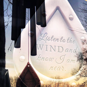 Memorial Wind Chime Chimes In Memory Of loved one Memorial Garden Gift After Loss Wind Chime Loved Memorial