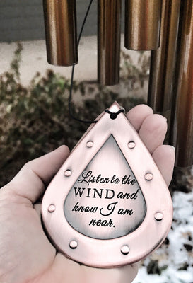 Memorial Custom Wind Chime Chimes In Memory Of loved one Memorial Garden Gift After Loss Wind Chime Loved Memorial