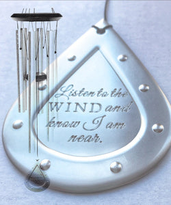 Memorial Wind Chime Loss of Life Custom 26 inch Memorial Wind Chime Grieving Gift Custom Gift After Loss Of Mom Dad or Loved One Silver