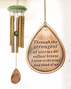 Memorial Strongest of Storms Copper Set Strongest Storm Top Selling 10 inch Memorial Wind Chime Gift After Loss Wind Chime Loved One