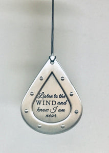 "26"" Silver Memorial Wind Chime — Customizable"