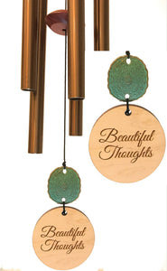"""Beautiful Thoughts"" Copper Memorial Gift by Weathered Raindrop"