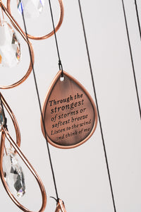 Sale Chandelier Memorial Wind Chime Sun Catcher Memorial Garden Gift After Loss Sympathy Gifts in Memory of Loved One