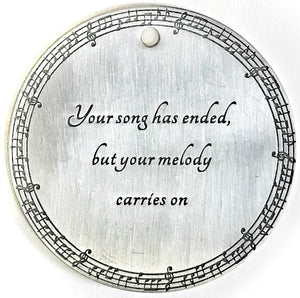 """Your Melody Carries on"" Gift After Loss Of Loved One Pluto Silver"