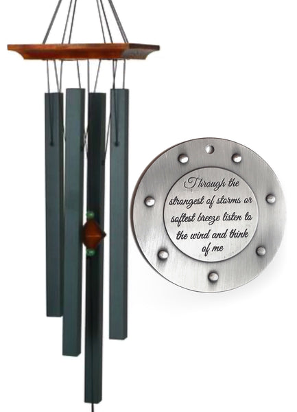 Evergreen Memorial 30 inch Wind Chime with Silver- Top Seller