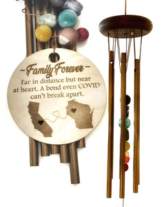 """Comfort Through Covid"" Stones Wind Chime by Weathered Raindrop"