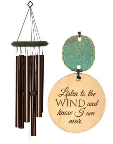 "Rush Shipping ""Listen to the Wind"" Memorial Wind Chime in Sympathy"