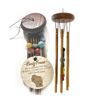 """Comfort Through Covid"" for Family and Friends Copper Stones Wind Chime by Weathered Raindrop"