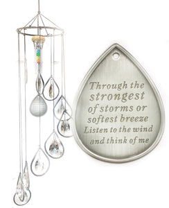 """Chandelier Memorial"" Silver Rainbow Sun Catcher Chandelier Wind Chime"
