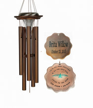 """All you Hold Dear"" Solar Light Large 28 inch Wind Chime by Weathered Raindrop"