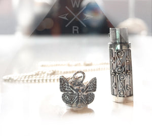 Butterfly Sterling Jewelry Urn Ashes Necklace CREMATION Sterling Silver URN Pendant custom cremation personalized urn Memorial