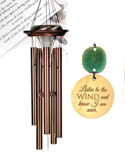 """I am near"" Deep Tone Solar Copper 28 inch Sympathy Gift by Weathered Raindrop"