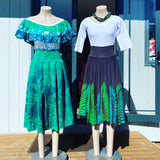Forest Green skirts - Pleated and Full flare