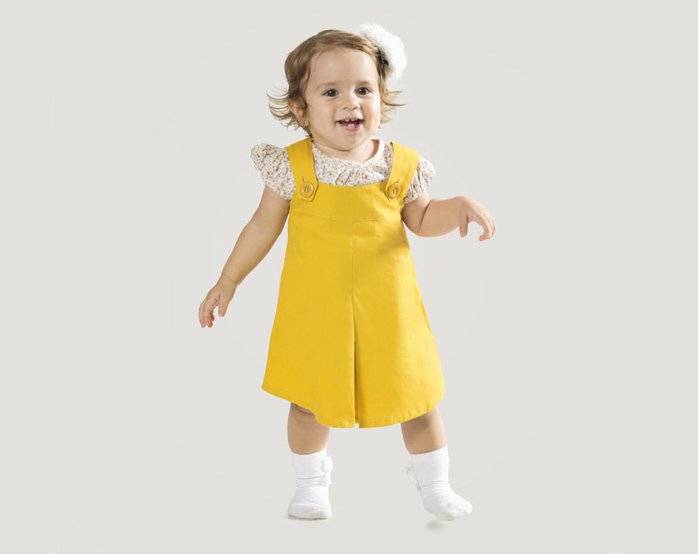 """4f812aa432fc Girl's Pinafore Dress for Toddler or Baby 6 Months to 24 Months – The  """"Billie"""