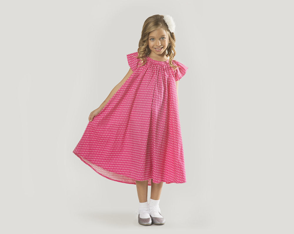 56be9763449 Girls Hot Pink Flamingo Dress in Sizes 2 to 9 Years -- The