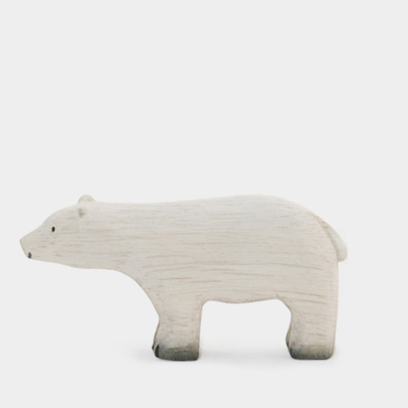 Little Wooden Polar Bear