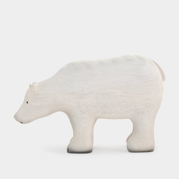 Large Wooden Polar Bear