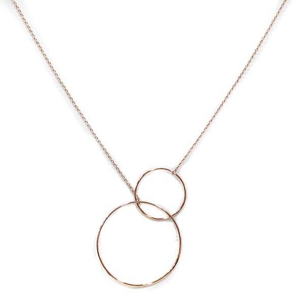 Liviana Double Circle Necklace - Gold