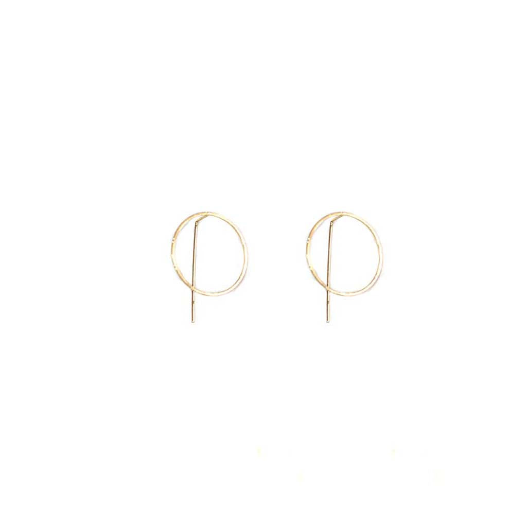 Big Metal LDN - Harper Circle Pull-Through Earring Gold