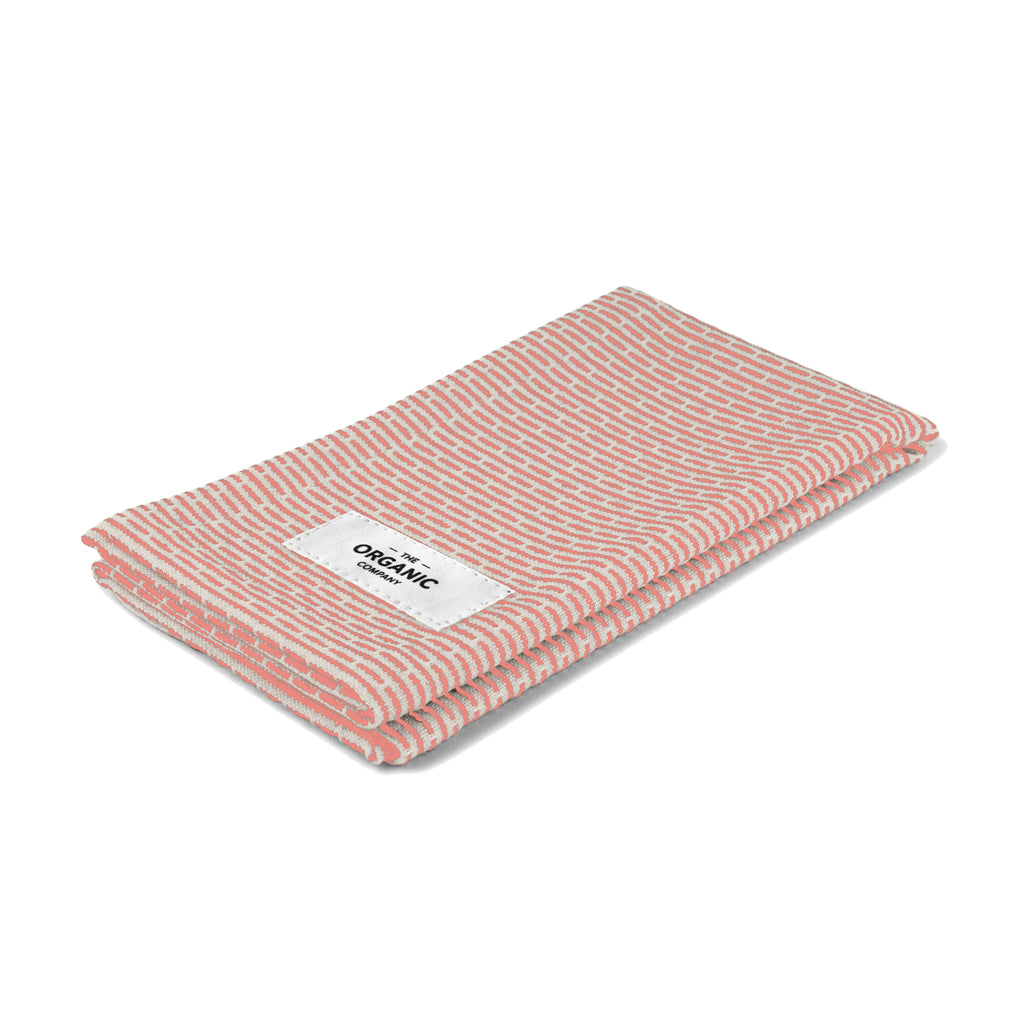 Kitchen & Wash Cloth - Stone/Coral