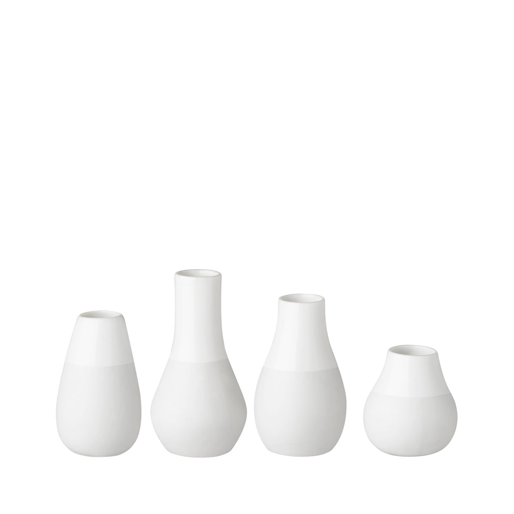 Set of 4 Mini Vases - White