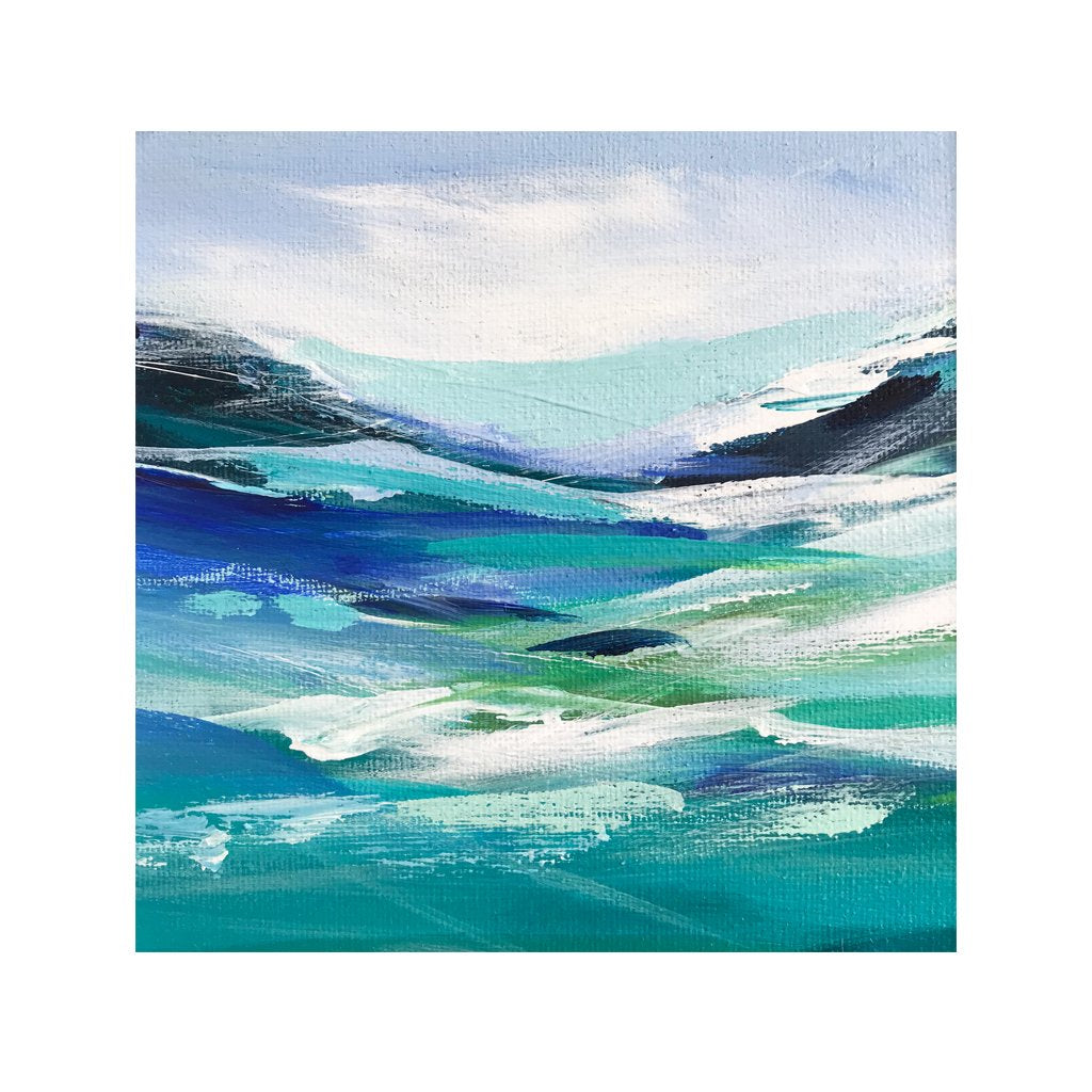 Blue waves - Original Painting by Janet Bell