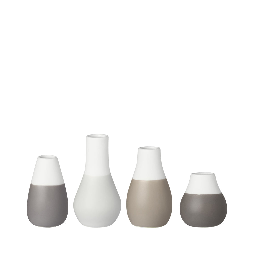 Set of 4 Mini Vases - Grey