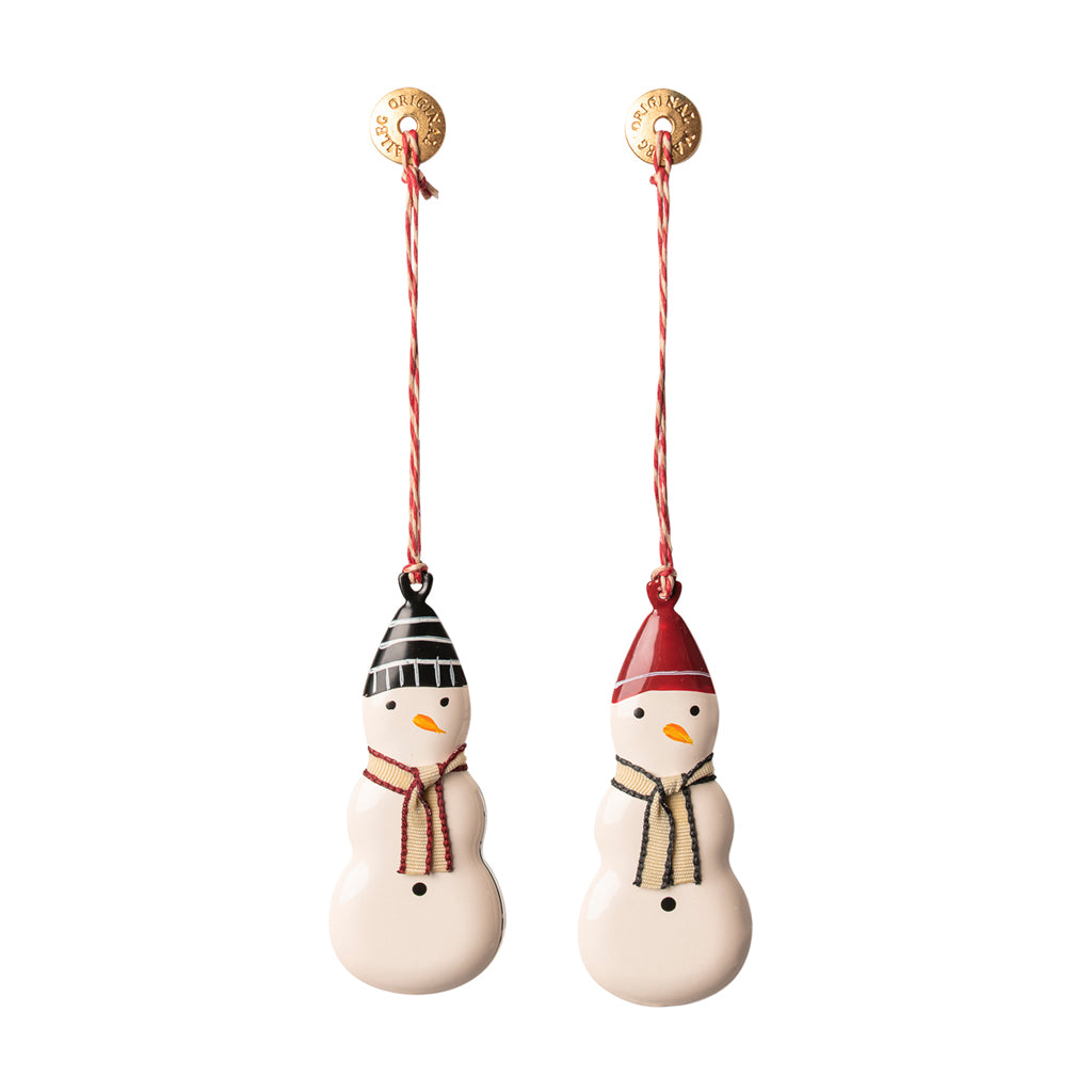 Hanging Metal Ornament - Snowman