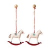 Hanging Metal Ornament - Rocking Horse