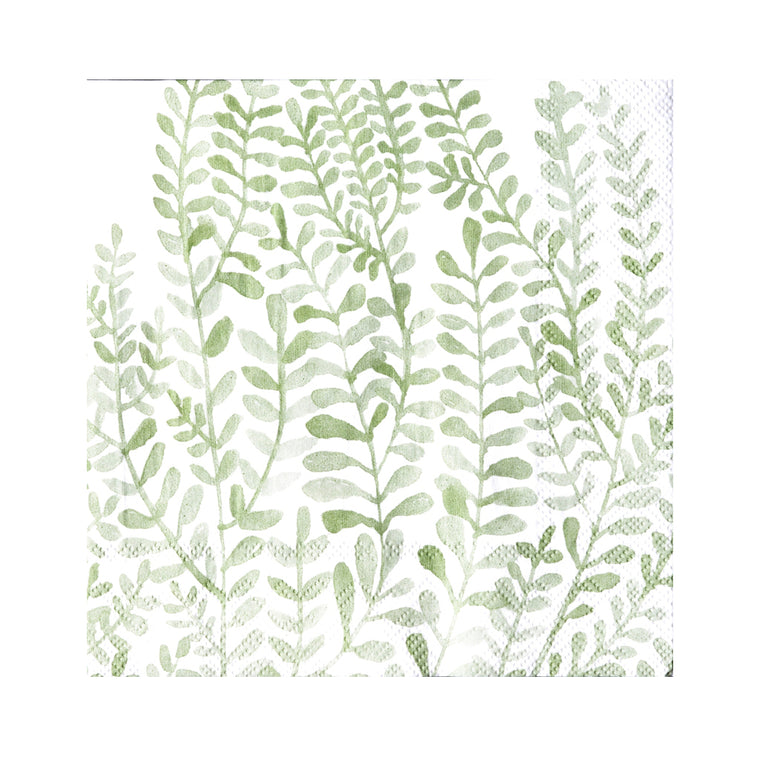 Napkin - Green Foliage