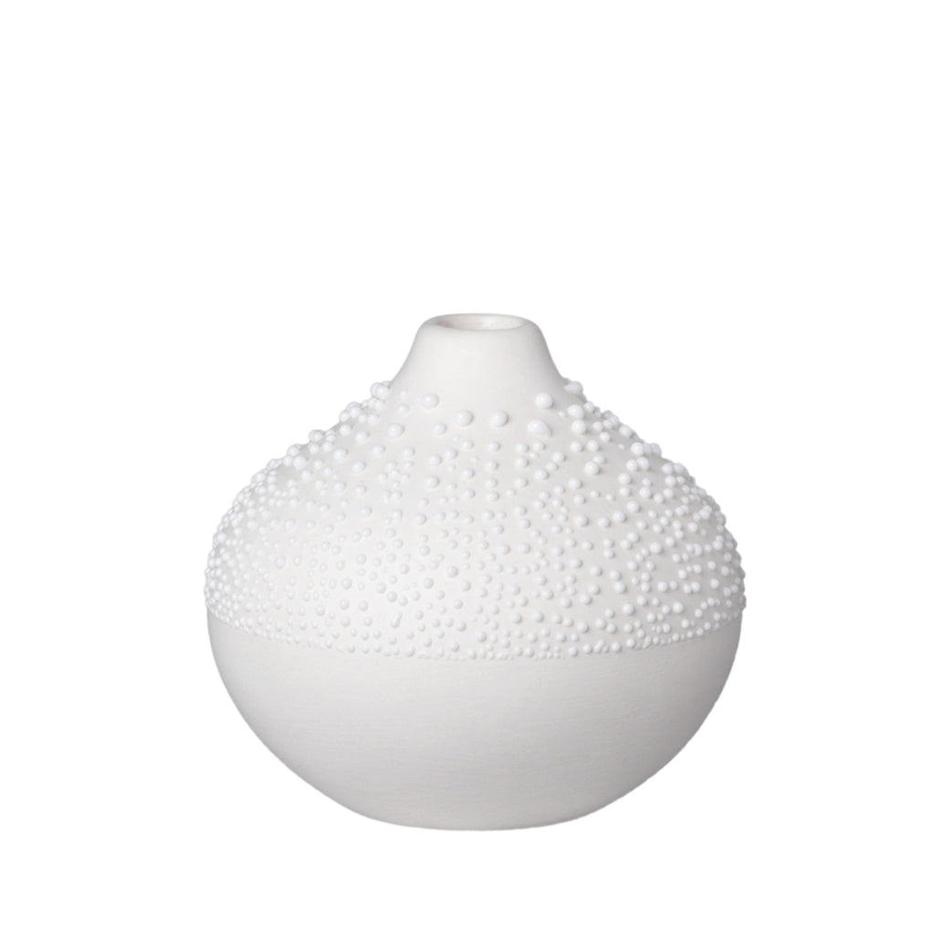 Pearl Vase - White Small