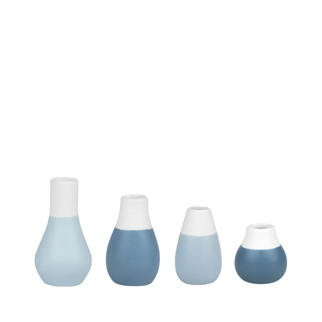 Set of 4 Mini Vases - Blue