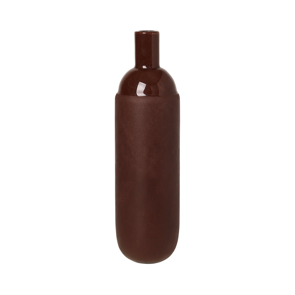 Broste Harald Glass Vase - Madder Brown