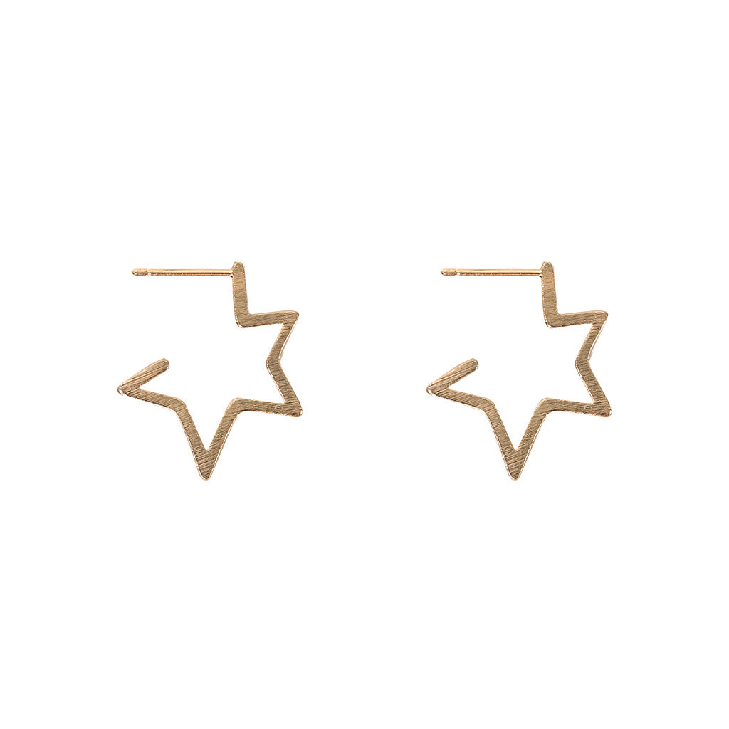 Chiarra Star Earring - Gold