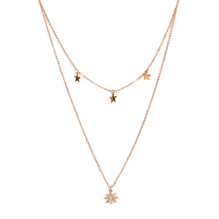 Sienna Stars Multi Layered Necklace - Gold