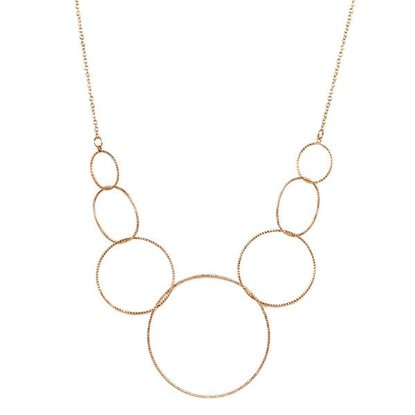 Philomena Multi Circle Bib Necklace - Gold
