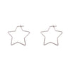 Big Metal LDN - Iman Star Hoops Silver
