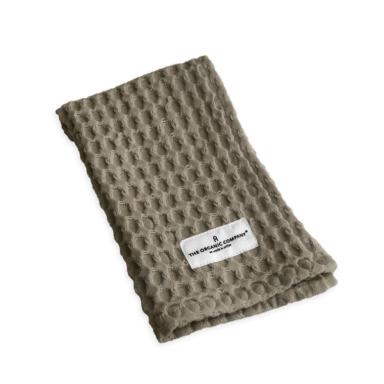 Big Waffle Kitchen and Wash Cloth - Clay