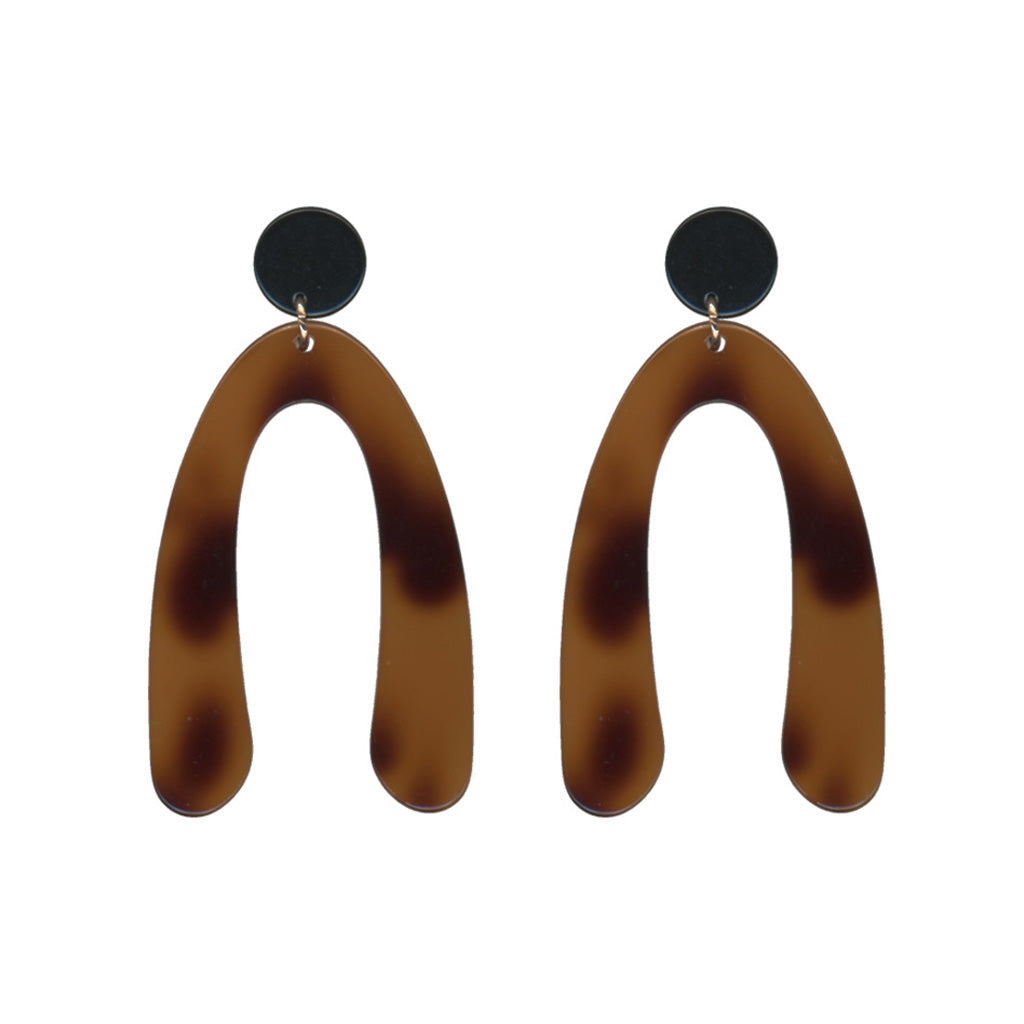 Big Metal LDN - Samantha Abstract Resin Earrings