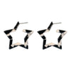 Megan Star Earrings - Black/White